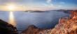 Obrazy na płótnie, fototapety, zdjęcia, fotoobrazy drukowane : Cliff and volcanic rocks of Santorini island, Greece. Caldera