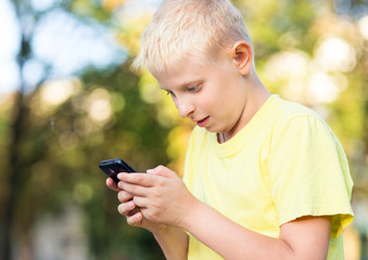 child playing on your smartphone