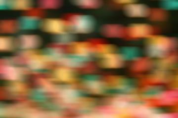 Multicolored defocused bokeh lights blur background