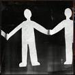 canvas print picture - Menschenkette