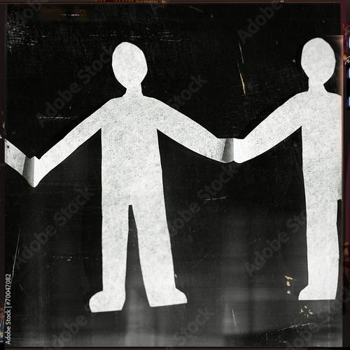 canvas print picture Menschenkette