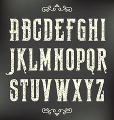 Grunge Vintage Font