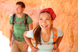 Hiking people - couple hikers in Bryce Canyon