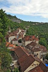 il villaggio di Rocamadour - panorama