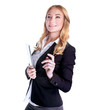 Cute smiling business woman