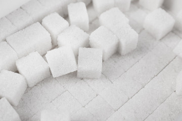 White refined sugar background
