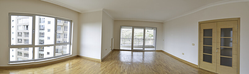 Empty Living Room Panorama