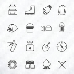 Camping Equipment icon vector illustration