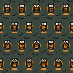 Halloween vector pattern background