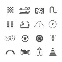 icon racing vector illustration