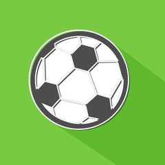 Soccer ball shadow icon, vector illustration