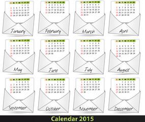 2015 mail calendar