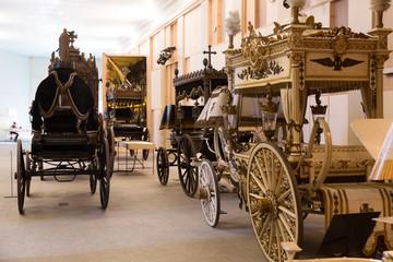 Vintage hearses in Catafalque Museum