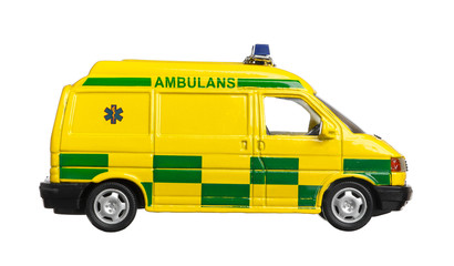 Svensk ambulans (miniatyr)