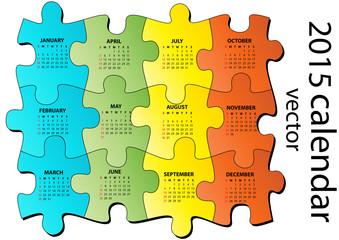 2015 puzzle calendar