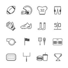 American football icons vector