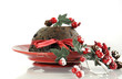 English style Christmas Plum Pudding dessert
