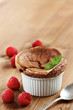 Delicious individual chocolate souffle