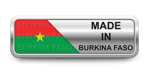 Made in Burkina Faso Button