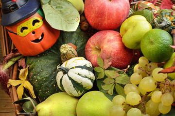 hallowen e frutta autunnale