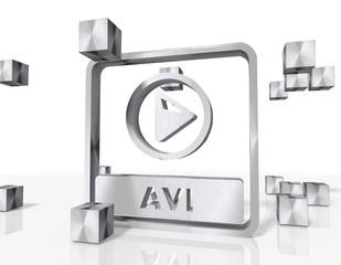 construction of a avi file icon