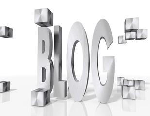construction of a blog icon