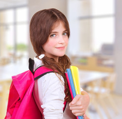 Cute girl at school