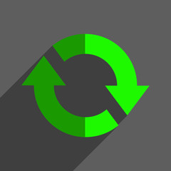 Refresh reload flat icon badge