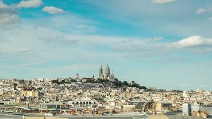 Paris, Butte Montmartre, Sacré Coeur, timelapse