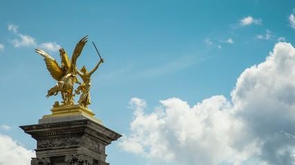 Grand Palais, Paris, sculpture, timelapse