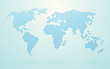 world map made ​​up of blue shapes