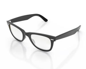 opened black hipster sun glasses