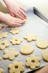 Hand making Ginger Cookie