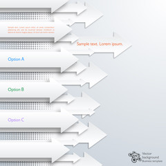 Infographics Background #White Arrows