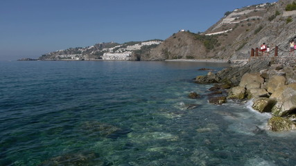 beaches with clear waters in the Andalusian coast