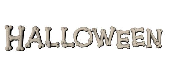 testo di Halloween con le ossa