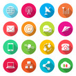 Communications colorful Icons Vector