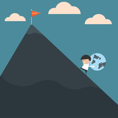 Businessman to find success. Vector illustration