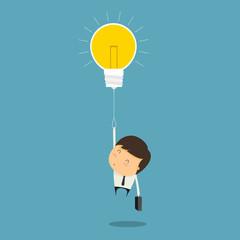 Businessman to Success with Idea