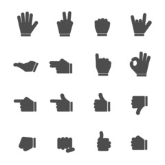 Hands Black Icons
