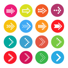 Icons Arrow colorful