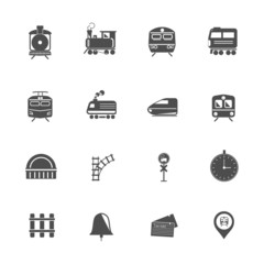 Train Transport Icons