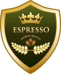 Espresso Gold Shield