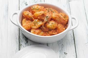 gnocchi with pink sauce