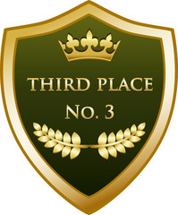Third Place Gold Shield