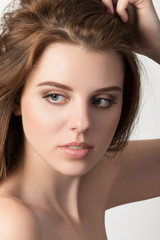 Beauty portrait of young woman, spa concept