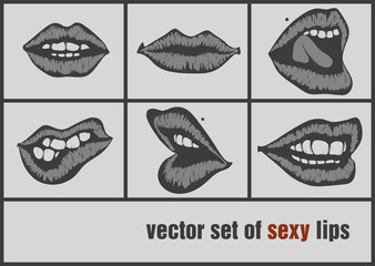 dark paper lips