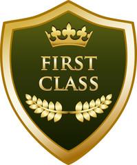 First Class Gold Shield