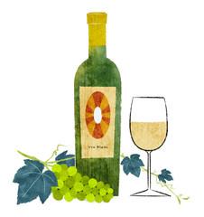 白ワインと葡萄