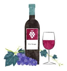 赤ワインと葡萄